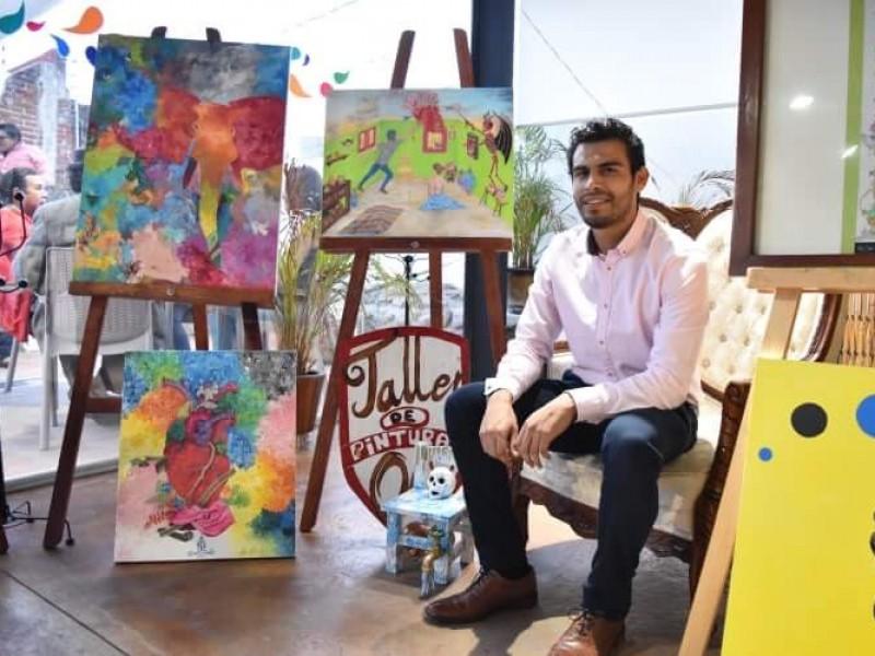 Presenta artista poblano, exposición