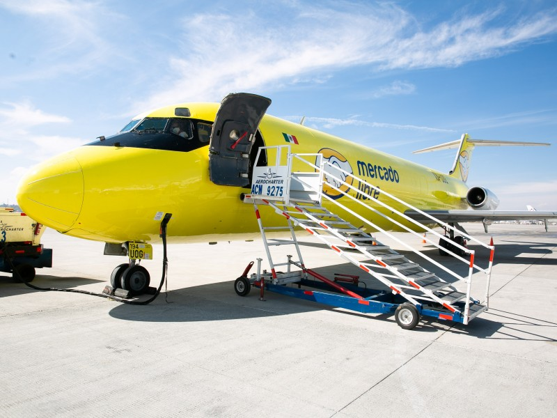 Presenta Mercado Libre flotilla aérea en Querétaro