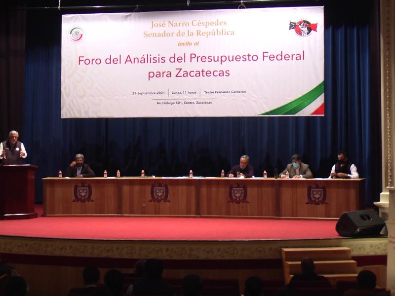 Presentan Análisis del Presupuesto Federal para Zacatecas