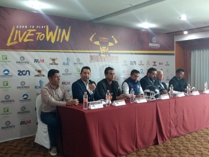 Presentan autoridades al equipo de americano de Querétaro