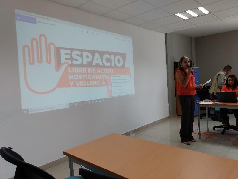 Presentan campaña contra acoso laboral en ayuntamiento tepicense
