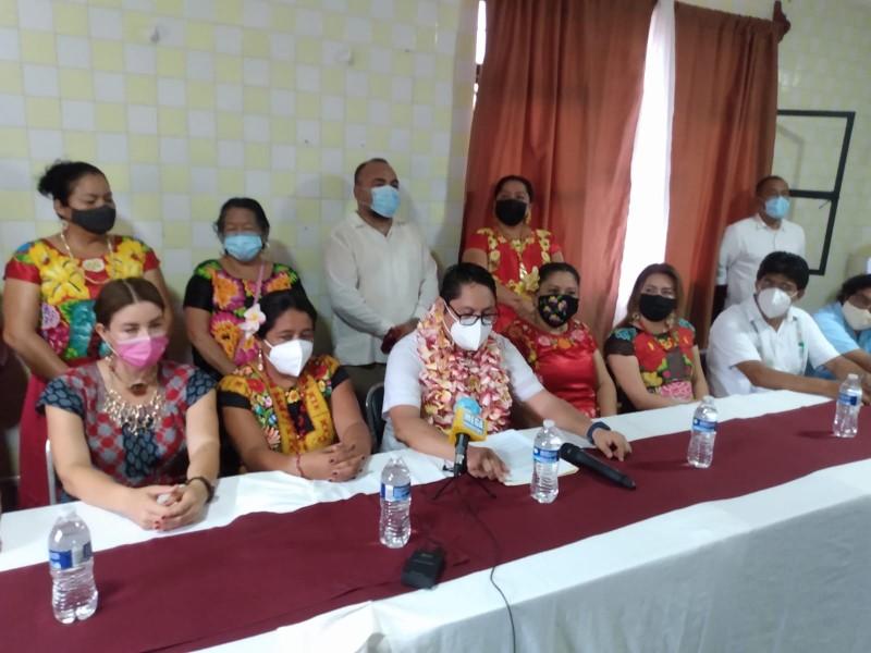 Presentan la planilla de MORENA para la presidencia de Juchitán