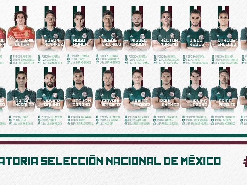 Presentan lista de convocados de Selección nacional mexicana