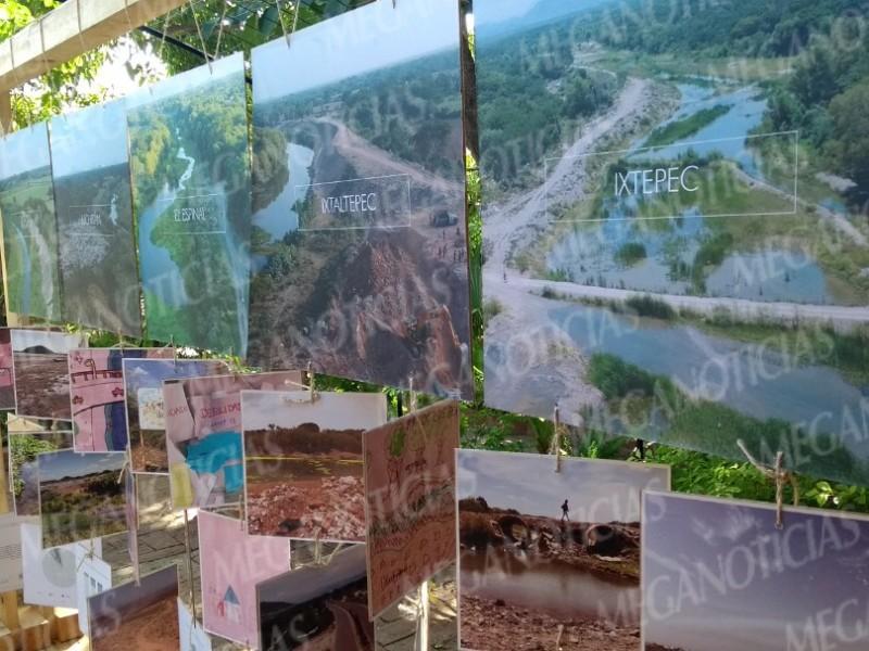 Presentan muestra fotográfica de los daños al Río