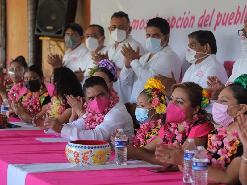 Presentan planilla de Fuerza por México para alcaldía de Juchitán