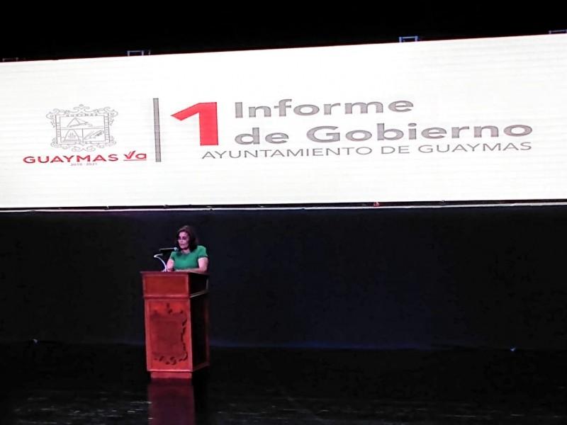 Presentan primer Informe de Gobierno en Guaymas
