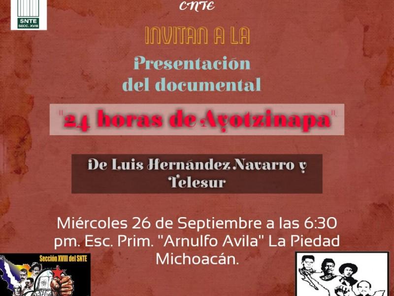Presentarán documental sobre desaparecidos de Ayotzinapa