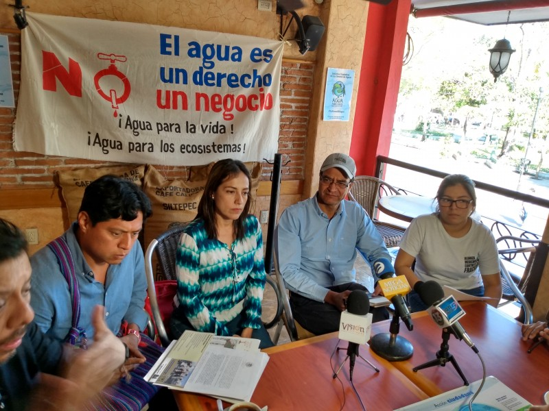 Presentarán iniciativa para tener control de agua pueblos originarios