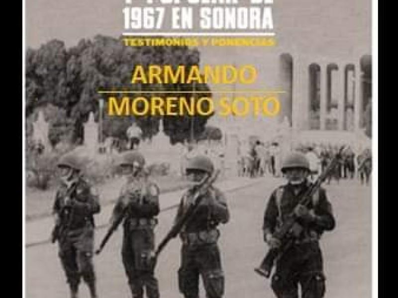 Presentarán libro sobre movimiento estudiantil de 1967