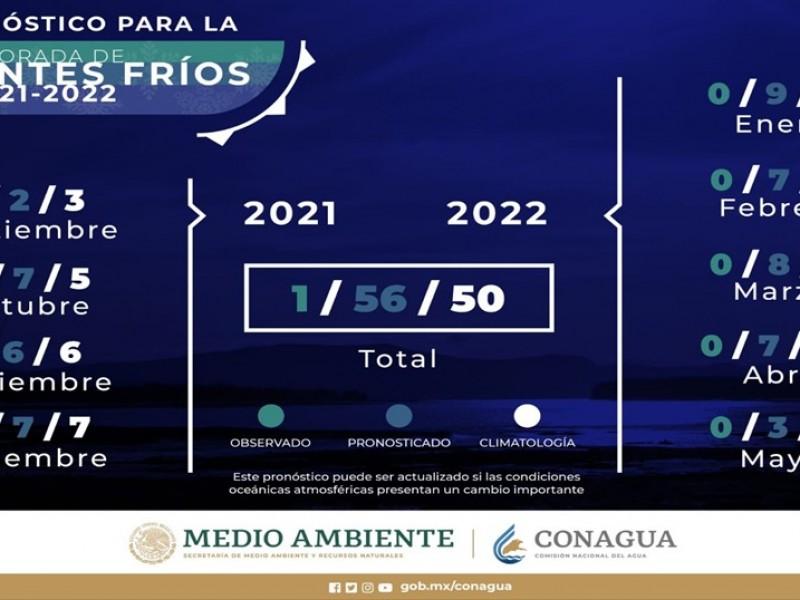 Presentan pronóstico de frentes fríos para temporada 2021-2022