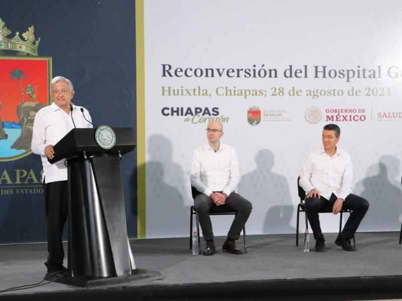 Presidente AMLO inaugura  reconversión de Hospital General  Huixtla