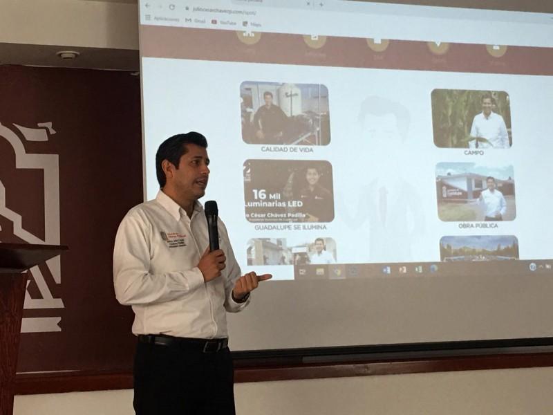 Presidente lanza página web con el contenido de su informe