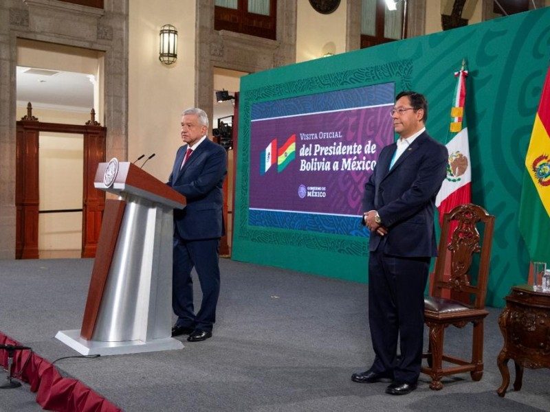 Presidente López Obrador recibe a su homólogo boliviano Luis Arce
