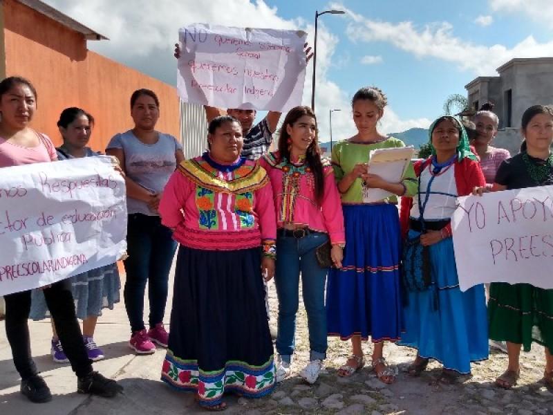 Pretenden autoridades eliminar preescolar indígena