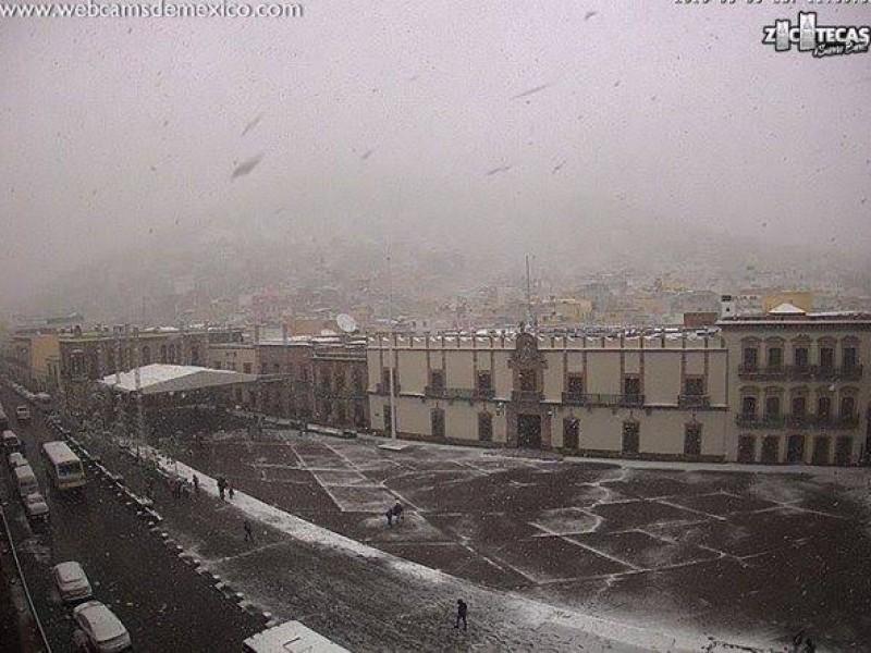 Prevén nevadas y tolvaneras para Zacatecas