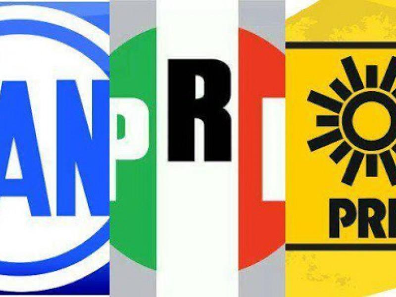 """PRI, PAN y PRD pactan la coalición """"Va Por México"""""""