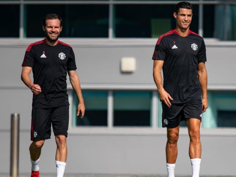 Primer entrenamiento de Cristiano Ronaldo en Manchester