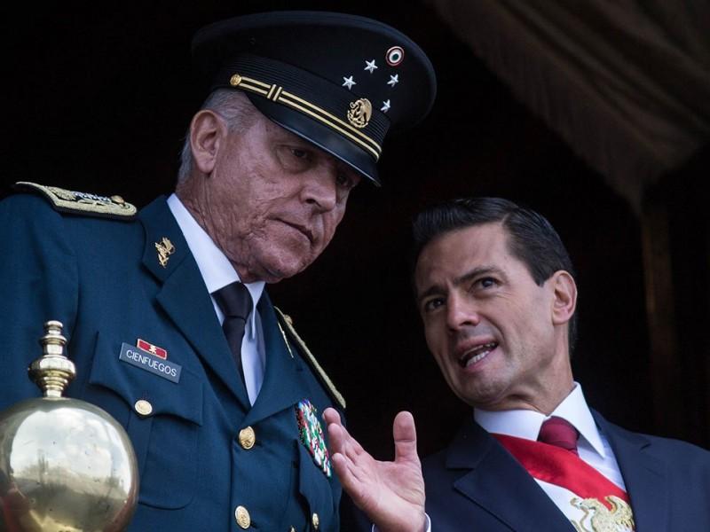 Primera audiencia de Salvador Cienfuegos, duró 5 minutos