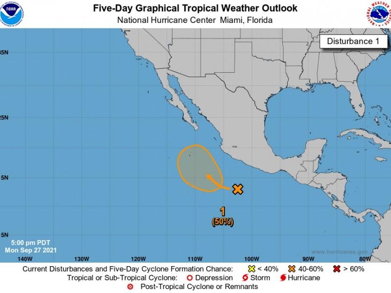 Probabilidad de formarse ciclón en el suroeste de México