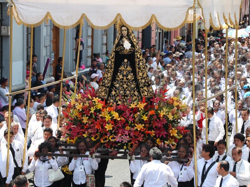 Procesión de Viernes Santo con 160 mil feligreses