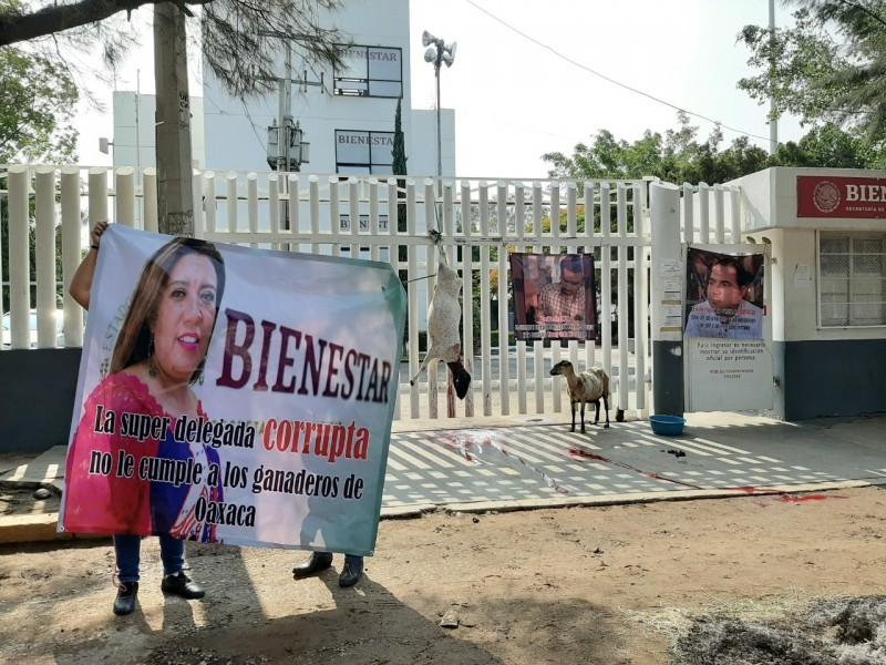 Productores oaxaqueños exigen a delegada de Bienestar apoyos al campo