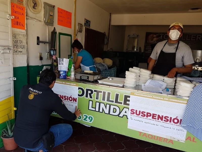 PROFECO multó a 3 tortillerías por aumentar sus precios