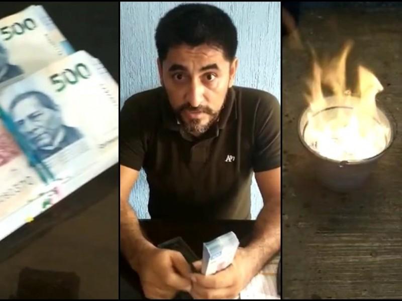 Profesor denuncia soborno del magisterio; quema un millón de pesos