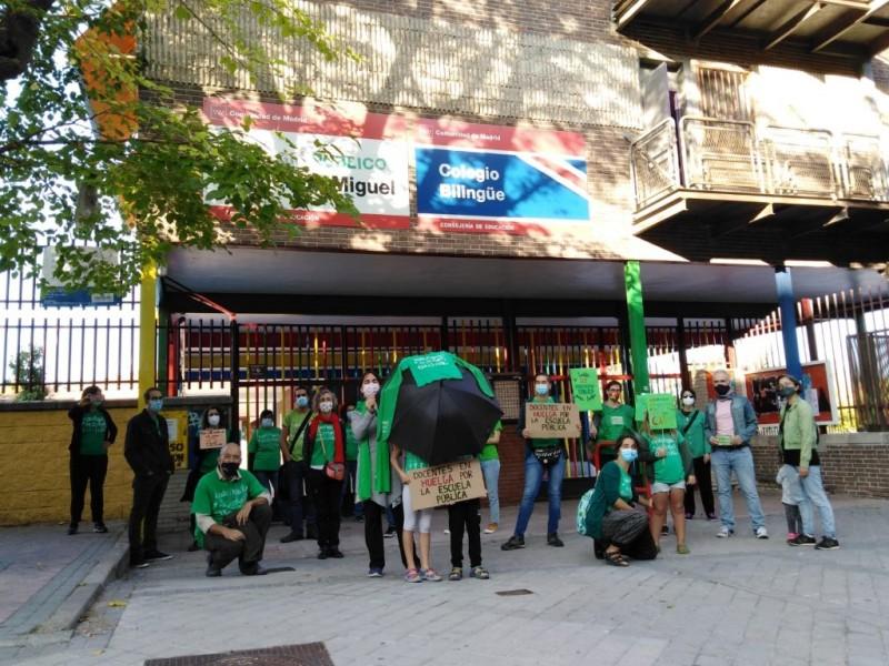 Profesores madrileños inician huelga mejores condiciones de seguridad y salubridad