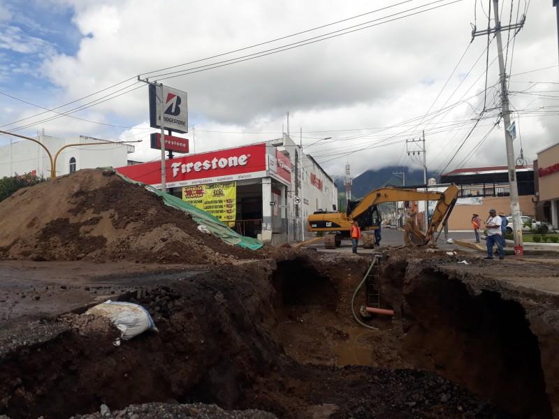 Prolongan entrega de obra boulevard Tepic - Xalisco