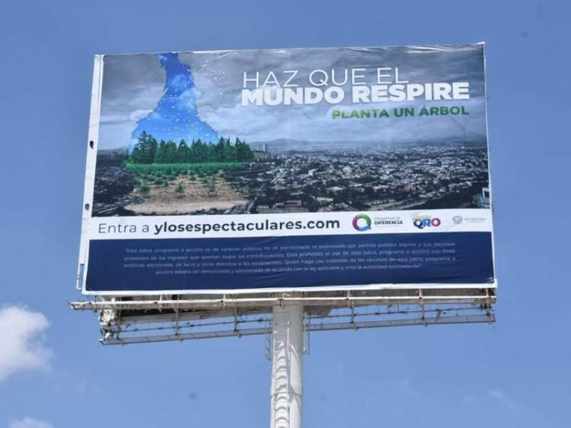 Promoverán cuidado del medio ambiente en espectaculares