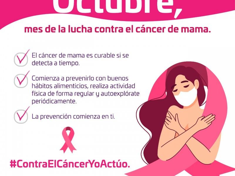 Promueven prevención del cáncer de mama en el istmo