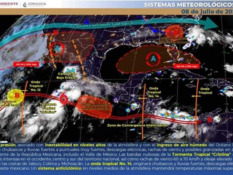 Pronostica Protección Civil nublados y chubascos en algunas regiones