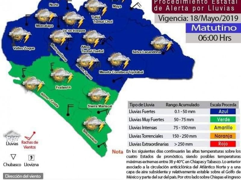Pronostican lluvias para todo el estado