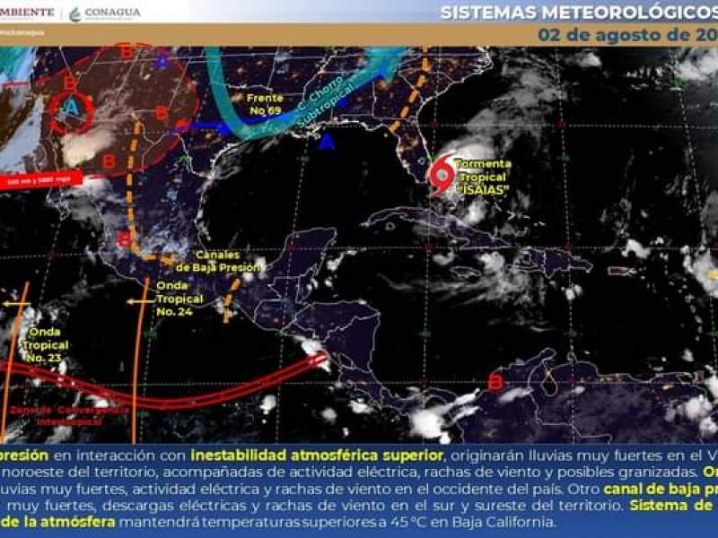Pronostican lluvias y granizo el regiones de Sonora
