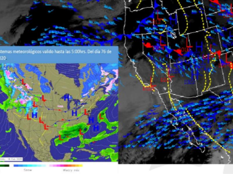 Pronóstico meteorológico domingo 16 de febrero
