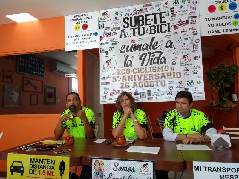 Inician campaña a favor de los ciclistas