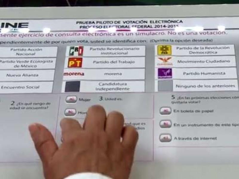 Proponen votar con boleta electrónica