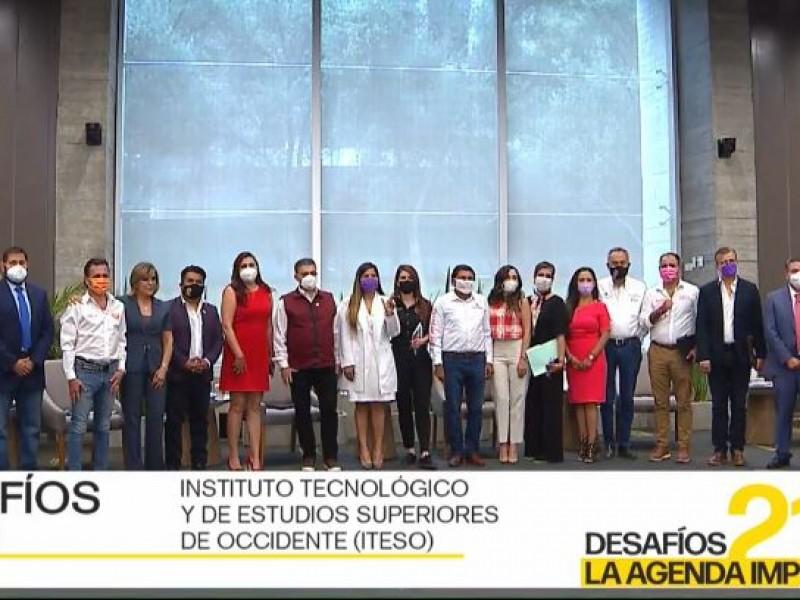 Propuestas de seguridad y descalificaciones en primer debate por Guadalajara