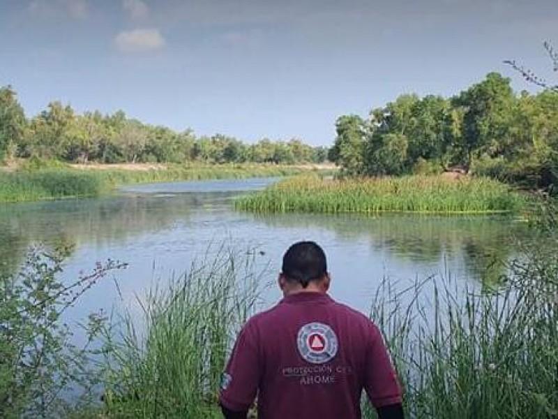 Protección civil trabaja sobre captura de cocodrilo en Río Fuerte