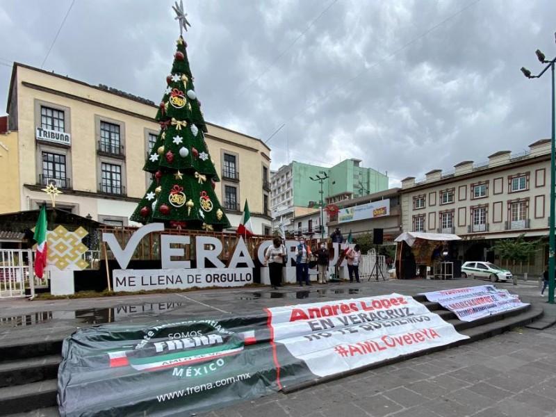 Protesta FRENAAA en Xalapa por