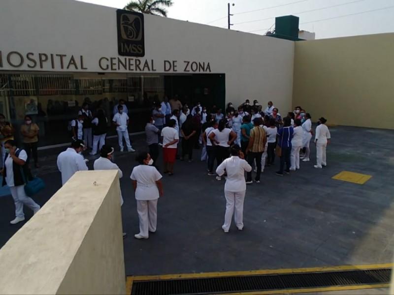 Protesta personal del IMSS HGZ 02 Salina Cruz