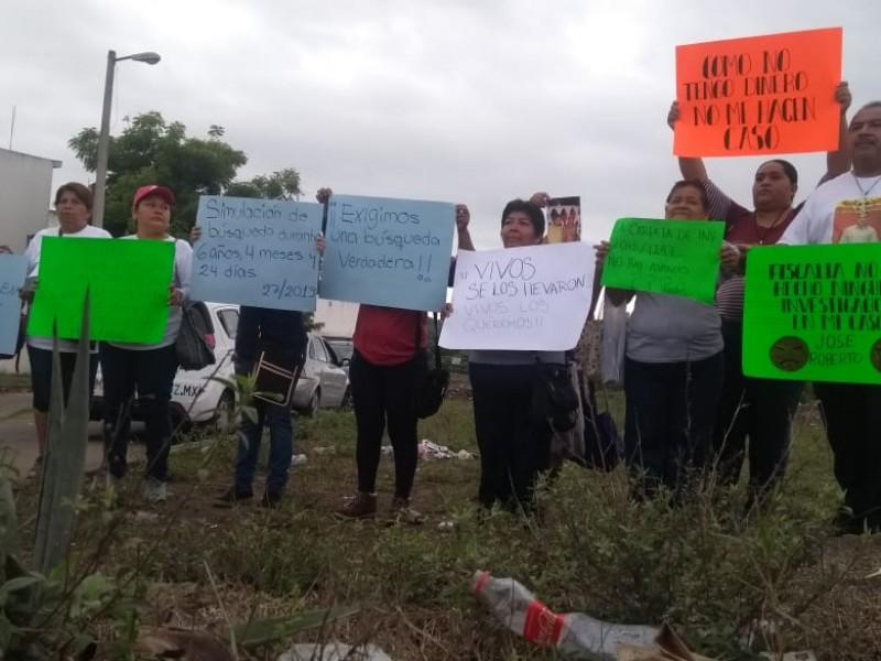 Protesta Solecito de Veracruz en Santa Fe