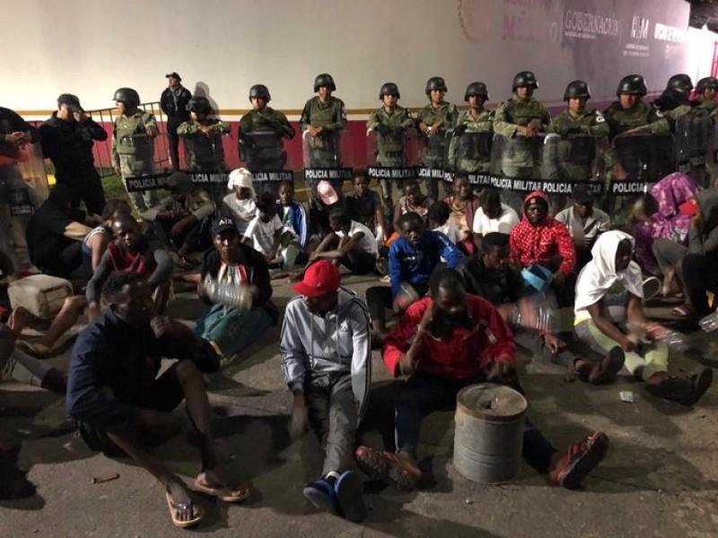 Protestan migrantes africanos en Tapachula, Chiapas