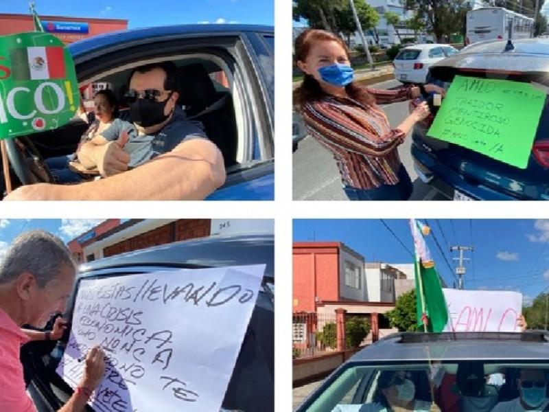 Protestan caravanas
