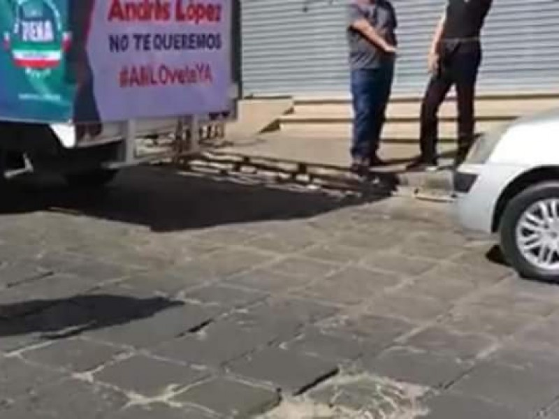 Protestan contra AMLO en Zacatecas