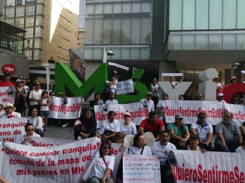 Protestan contra inseguridad en MH
