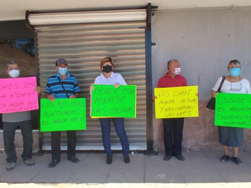 Protestan en CEA por falta de agua y mal servicio