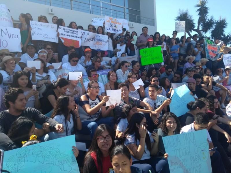 Protestan en contra de proyecto minero
