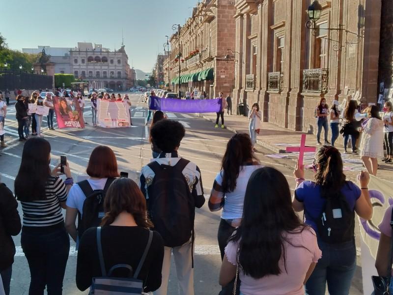 Protestan en Morelia en exigencia de justicia para mujeres asesinadas