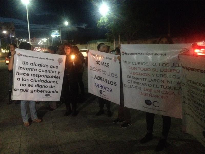 Protestan en Tlajomulco ante muertes por inundaciones